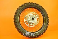 00-01 2001 CR125 CR 125 EXCEL Black Front Rear Wheel Complete Set Rim Hub Tire