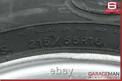 00-03 Mercedes W210 E320 Complete Wheel Tire Rim Set of 4 Pc R16 7.5Jx16H2 OEM