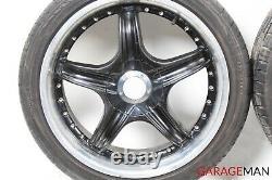 02-04 Mercedes R170 SLK32 C32 AMG Complete Front & Rear Wheel Tire Rim Set Black