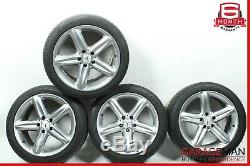 03-08 Mercedes R230 SL500 SL550 Complete Wheel Tire Rim Set R18 Chrome OEM