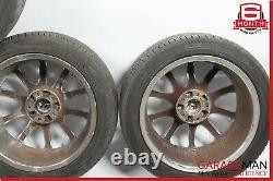 05-08 Mercedes R171 SLK350 Complete Wheel Tire Rim Set Staggered 7.5x8.5 R17 OEM