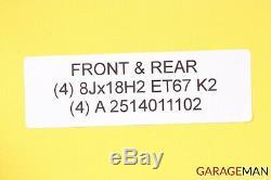 06-09 Mercedes W251 R350 Complete Front & Rear Wheel Tire Rim Set 8Jx18H2 ET67