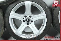 06-11 Mercedes W219 CLS500 Complete Wheel Tire Rim Set of 4 Pc OEM