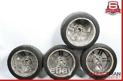 08-11 Mercedes W204 C300 C63 AMG Complete Wheel Tire Rim Set Staggered 7.5 x 8.5