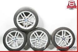 08-15 Mercedes W204 C250 C350 Complete Front & Rear Wheel Tire Rim Set R17 OEM