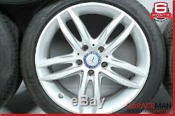 08-15 Mercedes W204 C250 Complete Front & Rear Side Wheel Tire Rim Set R17 OEM