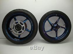 08-16 Yamaha YZF R6 YZF-R6 OEM Complete Front & Rear Wheels Rims Rotors & Hub