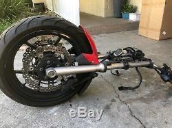 09-11 Ninja Ex650 650r Complete Front End Wheel Rim Forks Straight 2009-2011