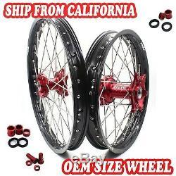1.621 & 2.1519 Complete Cnc Wheel Rim Fit Honda Cr125r Cr250r Crf250r Crf450r