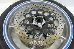 10-13 Honda Vfr1200f Complete Front Wheel Rim With Rotors Straight Oem