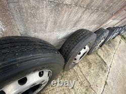 12x Alcoa Alloy Aluminium Wheels Rims Complete with Tyres 22.5 By 8.25 10 Stud