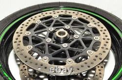 16-19 Kawasaki ZX10-R Ninja OEM Complete Front Wheel / Rim Brembo Rotors & Tire