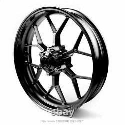 17 Complete Front Wheel Rim Black Fits Honda CBR600RR 2013-2017 Black
