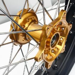 17 Complete Wheel Hub Rim Discs Cush Drive for Suzuki DRZ400SM DRZ 400 SM 05-17