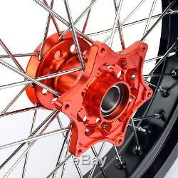 17 Complete Wheel Rim Hub Brake Disc Disk Bracket 125-525 MXC SXF EXC Supermoto