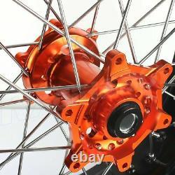 17'' Supermoto Complete Wheels for KTM SX SX-F 125-450 13-17 EXC 530 EXC-F 450