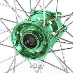 173.5 174.25 MX Wheels Complete Set Hub Rims For Kawasaki KX250F KX450F 06-18