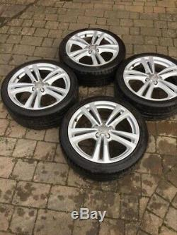 18 Genuine Audi A3 Alloy Wheels 10 Spoke Rims x 4. Complete With 225/40 Tyres