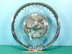 1970-1977 Yamaha XS1 XS1B Front Wheel rim hub brake plate GOOD complete XS650