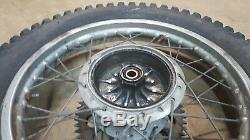 1974 YAMAHA DT250 DT 250 ENDURO REAR WHEEL RIM HUB DUNLOP TRIALS complete