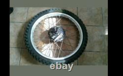 1978 Yamaha YZ400E Complete Front Wheel Rim Hub Drum Spindle Spaces