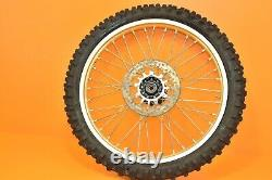 1986 86 YZ125 YZ 125 OEM Front Rear Wheels Complete Set Hub Rim Assembly