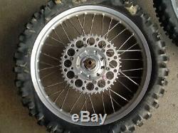 1993 Kawasaki KX250 Front & Rear Complete Excel Wheels & Talon Hub Rim Wheels 93