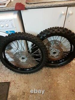 1996 To 2000 Rm 125 250 Wheels complete rebuild new did dirtstar rims new spokes