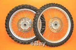 1998 97-99 CR250R TAKASAGO Front Rear Wheel Complete Hub Rim Spokes Tires Set