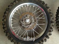 1999 KTM MXC250 Complete Front & Rear EXCEL Wheels & Talon Hubs Wheel Rims Rim