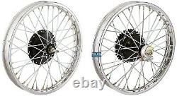 19half Width Hub Front& Rear Complete Wheel Rim Set Assey For Royal Enfield Gec