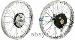 19half Width Hub Front& Rear Complete Wheel Rim Set Assey For Royal Enfield @au
