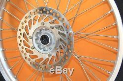2000 00-01 CR250R CR250 OEM Front Rear Wheel Set Complete Hub Rim Spokes Center