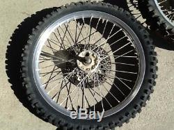 2000 00 YZ125 YZ250 Excel Front Rear Wheel Complete Hub Rim Spokes Rotors Wheels