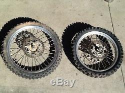 2000 96-18 YZ125 YZ250 Excel Front Rear Wheel Complete Hub Rim Spokes Rotors