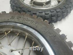 2000 Honda XR50R OEM Complete Front Wheel & Rear Wheel Set XR 50 R Wheels Rims