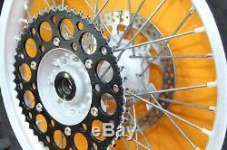2002 02-08 YZ125 YZ250 OEM Complete Front Rear Wheel Set Rim Spokes Rotor