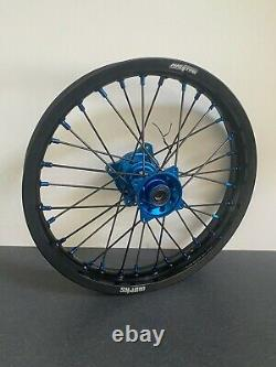 2002-2021 Yamaha YZ 85 Motocross Wheels Rims Black Blue Complete 16/19 Supermini