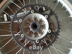 2004 04-06 RMZ250 04-05 KX250F Set Front Rear EXCEL Wheel Hub Complete Rotor Rim