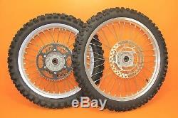 2007 07-16 RMZ250 Takasago Front Rear Wheel Set Hub Rim Spokes Tires Complete
