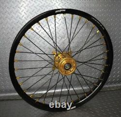 2007-2022 RMZ250 RMZ450 Suzuki Motocross Wheels Rims Black Gold Complete 19/21