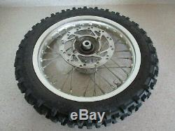 2008 KTM 50 10 FRONT WHEEL With TIRE, FRONT RIM HUB COMPLETE, 45109001444, M103