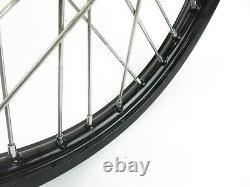 2010-2019 Kawasaki KX85 KX 85 Complete Front Wheel Rim Hub Black 17x1.40