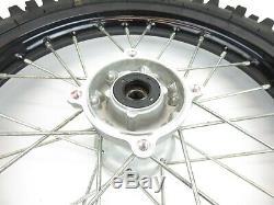 2011-2019 Kawasaki KX65 KX 65 Complete Front Wheel Rim Hub Black 14x1.40