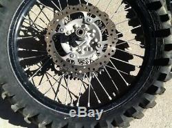 2012 Kawasaki KX250F Complete EXCEL Front & Rear Wheel Rim Hub Axle Wheels 12