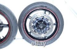 2012 Yamaha YZF R6 YZF-R6 OEM Complete Front & Rear Wheels Rims Rotors & Hub