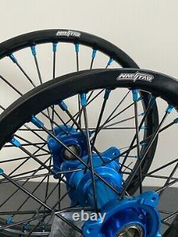 2014-2020 Husqvarna TC85 Motocross Wheels Rims Black Blue Complete 16/19 TC 85