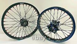 2014-2021 Honda Motocross Wheels Rims Black Complete 19/21 CRF250 CRF450 CRF