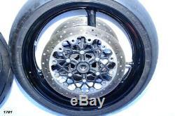 2014 Suzuki GSXR 600 750 OEM Complete Front & Rear Wheels Rims Rotors & Hub