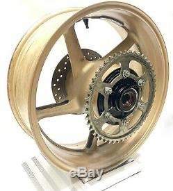 2014 Yamaha R1 OEM Complete Rear Wheel Rim Brake Rotor Sprocket GOLD! YZF-R1